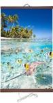 Гибкий настенный обогреватель Тропические рыбки (50х100 см)