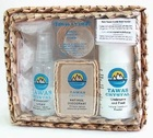 Натуральный кристаллический дезодорант (Tawas Crystal) подарочный набор в коробке из пальмы Пандан