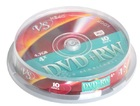 Диски DVD+RW VS 4.7Gb 4x CakeBox 10 шт