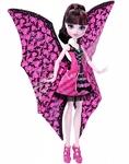 Кукла Monster High Дракулаура в трансформирующемся наряде (DNX65)