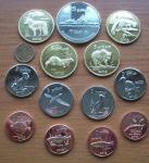 Набор из 13 монет Курильские острова 2013 UNC