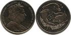 Монета Виргинские острова 1 доллар Медно-никель  2005 (дельфины)