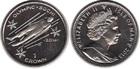 Монета Остров Мэн 1 крона Медно-никель 2013 Санный спорт (Олимпийские игры в Сочи 2014)