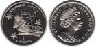 Монета Остров Мэн 1 крона Медно-никель 2013 Слалом (Олимпийские игры в Сочи 2014)