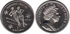 Монета Остров Мэн 1 крона Медно-никель 2013 Танцы на льду (Олимпийские игры в Сочи 2014)