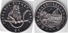 Монета Эритрея 1 доллар Медно-никель 1994 (обезьяна)