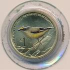 Монета 1 доллар Тувалу 2013 (полосатая радужная птица)