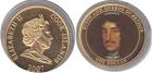 Монета 1 доллар 2007 г Острова Кука (позолота)