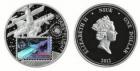 Монета 1 доллар 2012 год Ниуэ (Гагарин) серебро