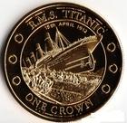 Монета 1 крона Тристан Да Кунья 2012 год (100-летие гибели Титаника, крушение)
