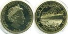 Монета 1 крона Тристан Да Кунья 2012 год (100-летие гибели Титаника, отплытие)