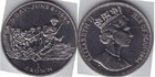 Монета 1 крона 1994 год Остров Мэн (день D 6 июня 1944) серебро