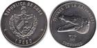 Монета 1 песо 1985 год Куба (Природный заповедник - Кубинский крокодил)