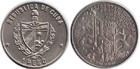 Монета 1 песо 1989 год Куба (200 лет Французской революции - Бастилия)