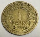 Монета 1 франк 1939 года Франция
