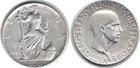 Монета 10 лир 1936 год Италия (Витторио Эмануил III. Идущая Свобода) серебро