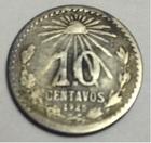 Монета 10 сентаво 1925 год Мексика (серебро)