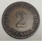 Монета 2 пфеннига 1912 год Германия (DD)