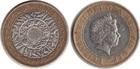 Монета 2 фунта 1999 год Великобритания (биметалл)