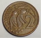 Монета 2 цента 1971 год Новая Зеландия