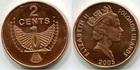 Монета 2 цента 2005 Соломоновы Острова (Птица счастья)