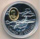 Монета 20 долларов 1999 год Канада (Авиация) серебро