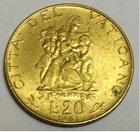 Монета 20 лир 1961 год Ватикан (Иоанн XXIII, Мать с детьми)