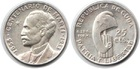 Монета 25 сентаво 1953 г Куба (серебро)