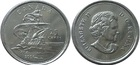 Монета 25 центов (квотер) 2004 год Канада (400 лет первому французскому поселению)