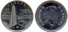 Монета 25 центов (квотер) 2005 год Канада (100 лет провинции Альберта)