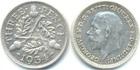 Монета 3 пенса 1934 год Великобритания (серебро)