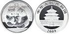 Монета 30 юань Китай 2009 год (Панда) Proof