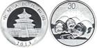 Монета 30 юань Китай 2013 год (Панда) Proof