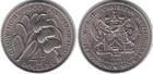 Монета 4 доллара 1970 год Сент Киттс-Невис (ФАО. Сахарный тростник. Бананы.)