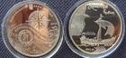 Монета 5 гривен Украина 2010 (Казацкая лодка)