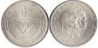 Монета 5 крон 1960 год Дания (Серебряная свадьба) серебро