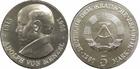 Монета 5 марок 1980 год ГДР (75 лет со дня смерти Адольфа фон Менцеля)