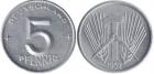Монета 5 пфеннигов 1952 г ГДР (алюминий)