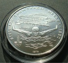 Монета 5 рублей 1978 год (Плавание, Олимпиада-80) серебро