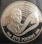 Монета 5 фунтов 1998 год Великобритания (50 лет принцу Чарльзу) серебро