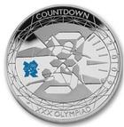 Монета 5 фунтов 2009 год Великобритания (XXX Олимпиада, пловцы и секундомер) серебро