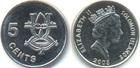 Монета 5 центов 2005 Соломоновы Острова (Ритуальная маска)