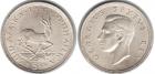 Монета 5 шиллингов 1951 г ЮАР (Олень) серебро