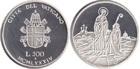 Монета 500 лир 1984 г Ватикан (2000 лет со дня рождения Девы Марии) серебро