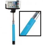 Монопод для селфи Z07-5 plus с кнопкой bluetooth на ручке (голубой)