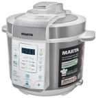Мультиварка Marta MT-4312 белый (сталь)