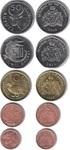 Набор монет Гамбия 1998-2011 (5 монет)