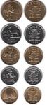 Набор монет Замбия 1992 год (5 монет)