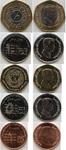 Набор монет Иордания 2000-2006 г (5 монет)