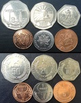 Набор монет Мадагаскар 1996-2005 (6 монет)